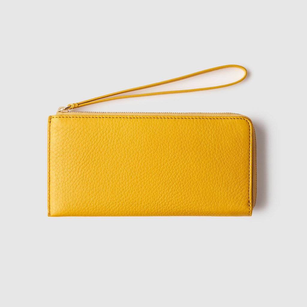Octovo Phonebooth Leather Wallet | Yellow
