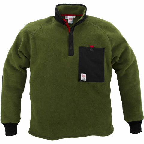 Topo Designs Fleece Jacket | Olive/Black