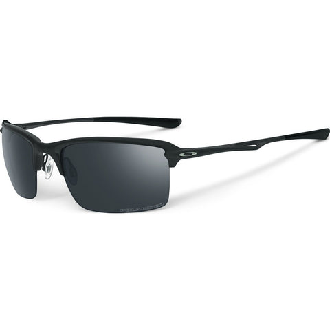 Oakley Iconic Wiretap Matte Black Sunglasses | Black Iridium Polarized OO4071-05 55 mm