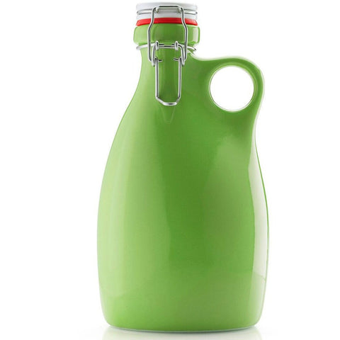 Orange Vessel Co. Stoneware Growler 64 oz. | Green