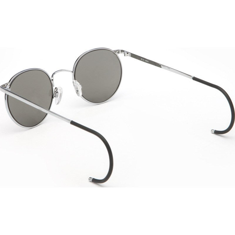 Randolph Engineering P-3 Bright Chrome Sunglasses | Gray Polarized Glass Skull