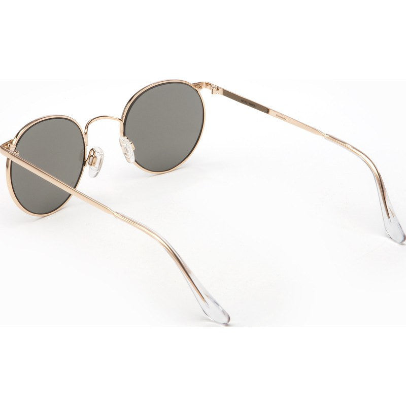 Randolph Engineering P-3 23K Gold Plated Sunglasses | Gray Glass Skull