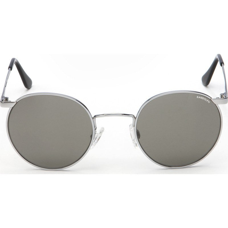 Randolph Engineering P-3 Bright Chrome Sunglasses | Gray Skull