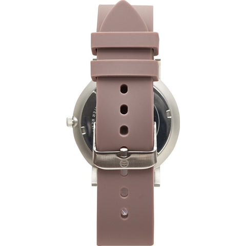 Shore Projects Poole Wtach with Silicone Strap | Silver / White / Grey S028S