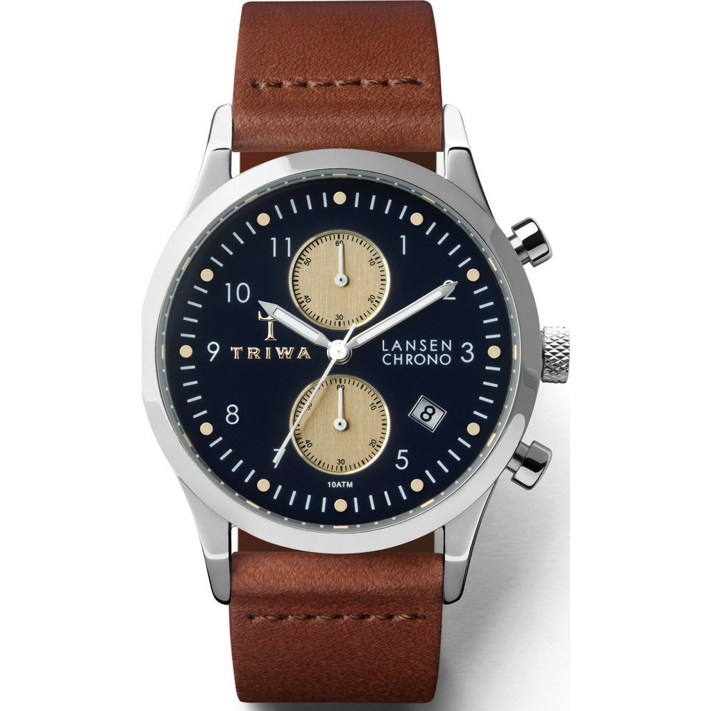 Triwa Pacific Lansen Chrono Watch | Brown Classic LCST117-CL010212