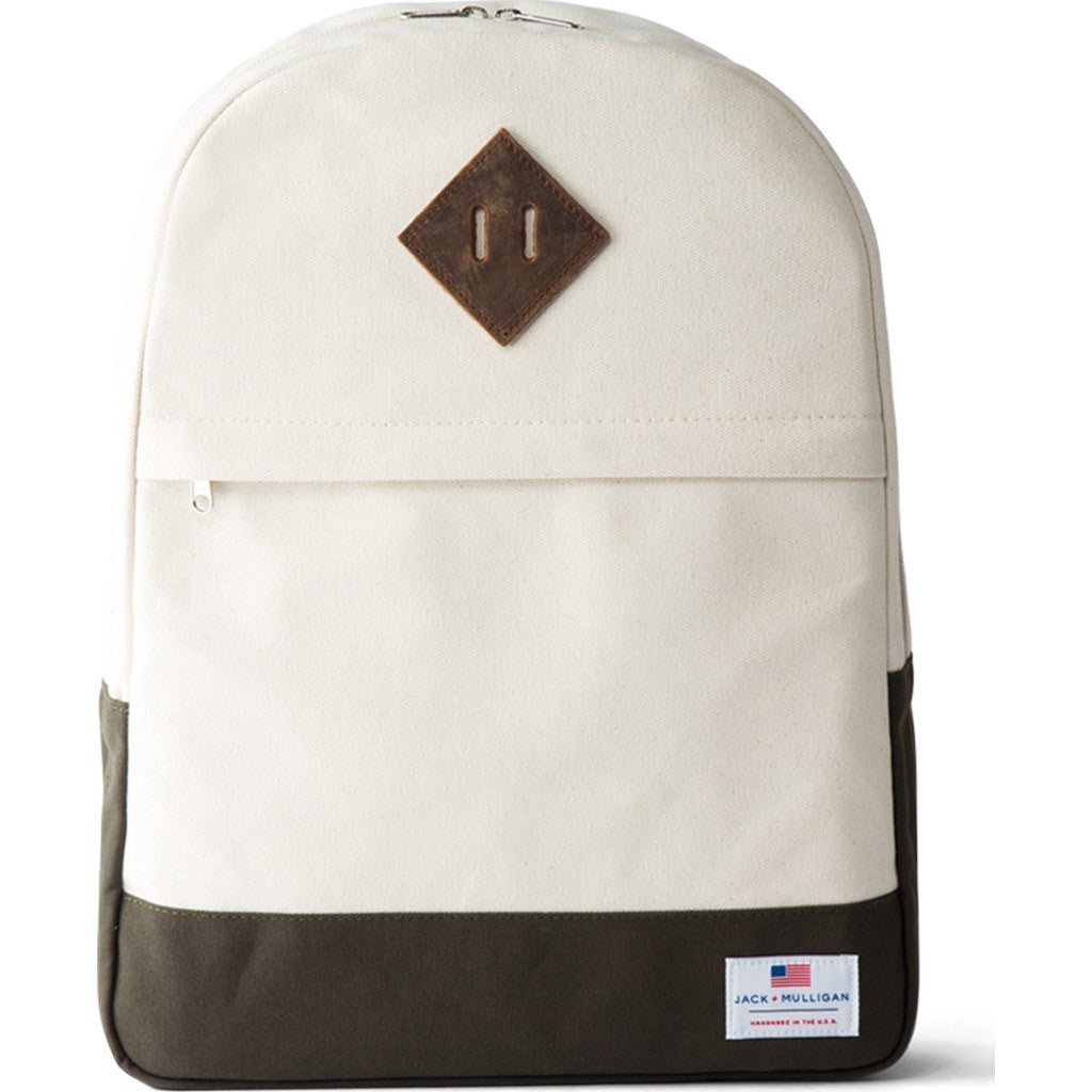Jack + Mulligan Miller Backpack | Natural / Army