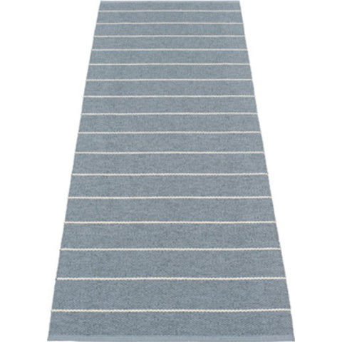 Pappelina Carl Woven Plastic Washable Rug With Double Folded Hemmed Edge