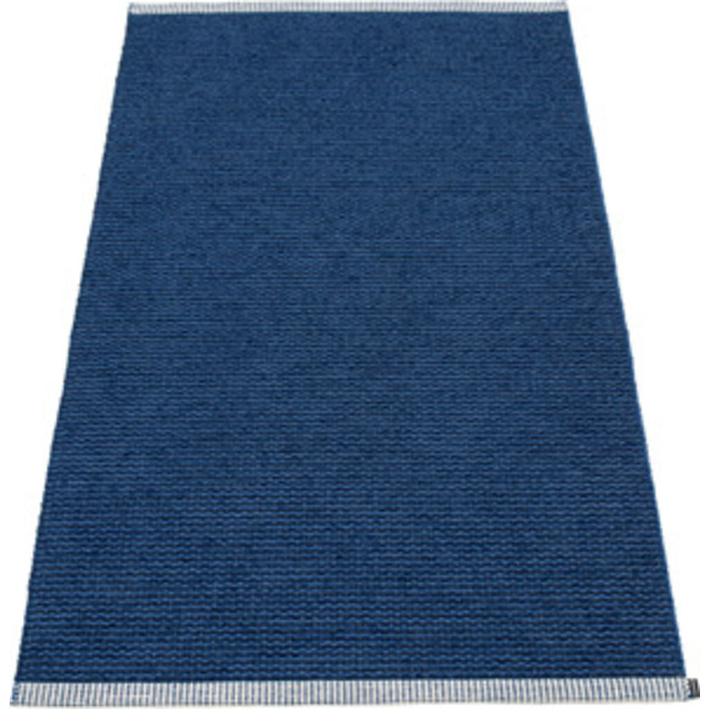 Pappelina Mono Woven Plastic Washable Rug With Double Folded Hemmed Edge