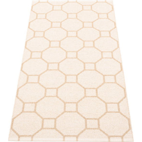 Pappelina Rakel Woven Plastic Washable Rug With Double Folded Hemmed Edge