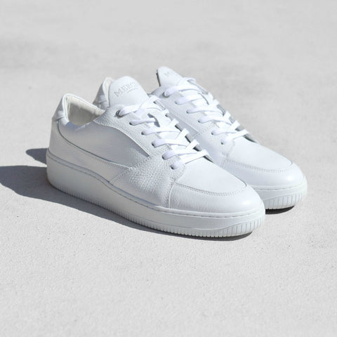 Mercer Amsterdam Park Ave Leather Low Top Shoes | White