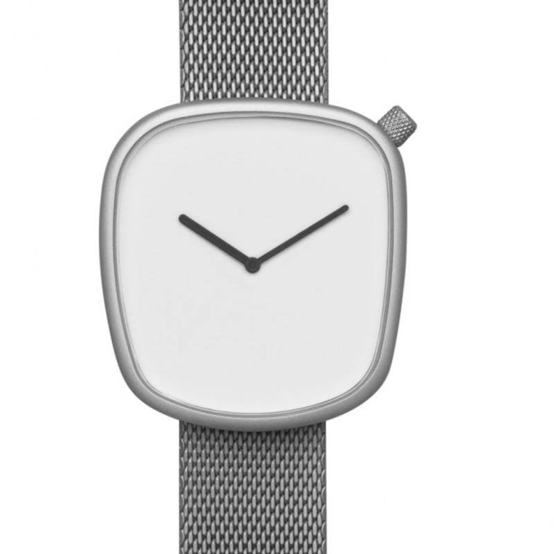 bulbul Pebble 06 Men's Watch | Matte Steel on Milanese Mesh