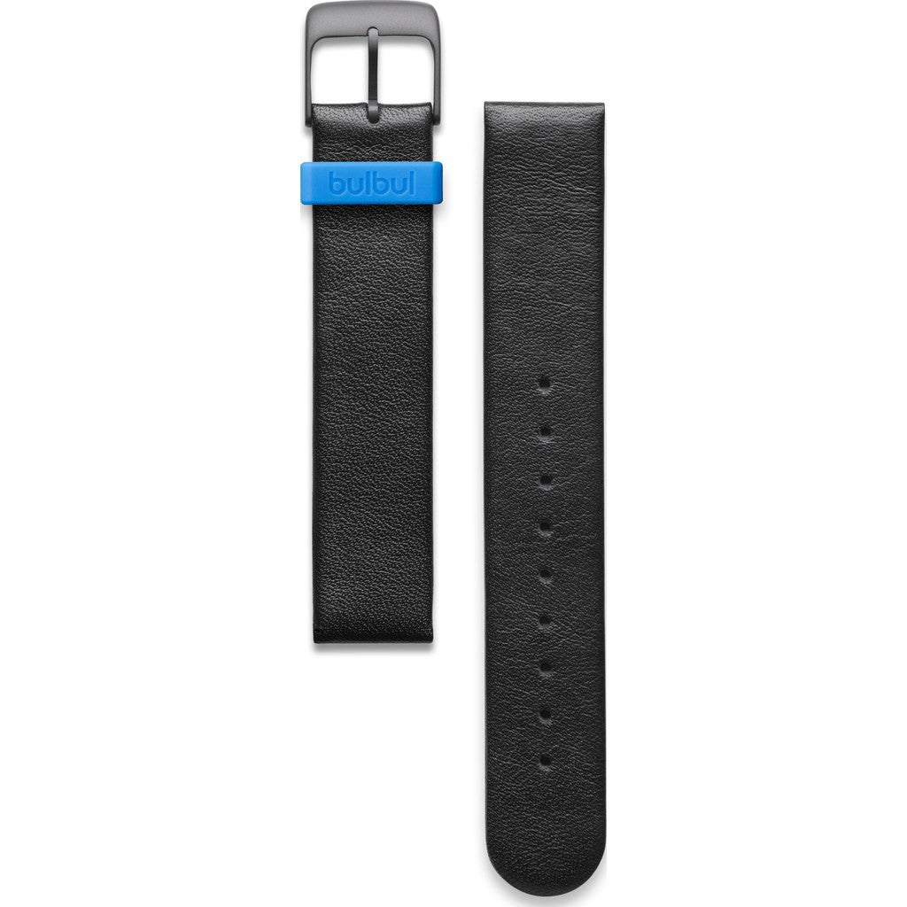 bulbul Pebble / Ore 01 Strap | Black Italian Leather & Black Buckle
