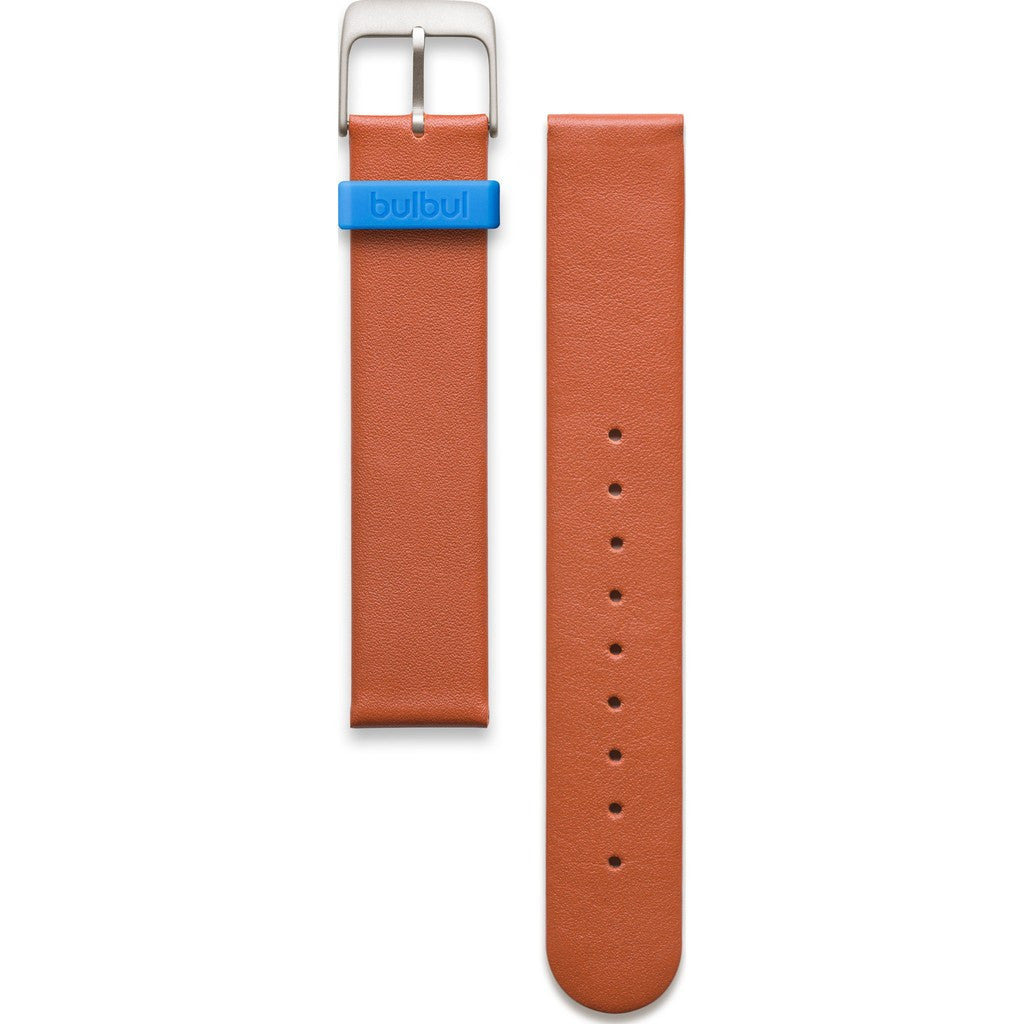 bulbul Pebble / Ore 03 Strap | Brown Italian Leather & Steel Buckle