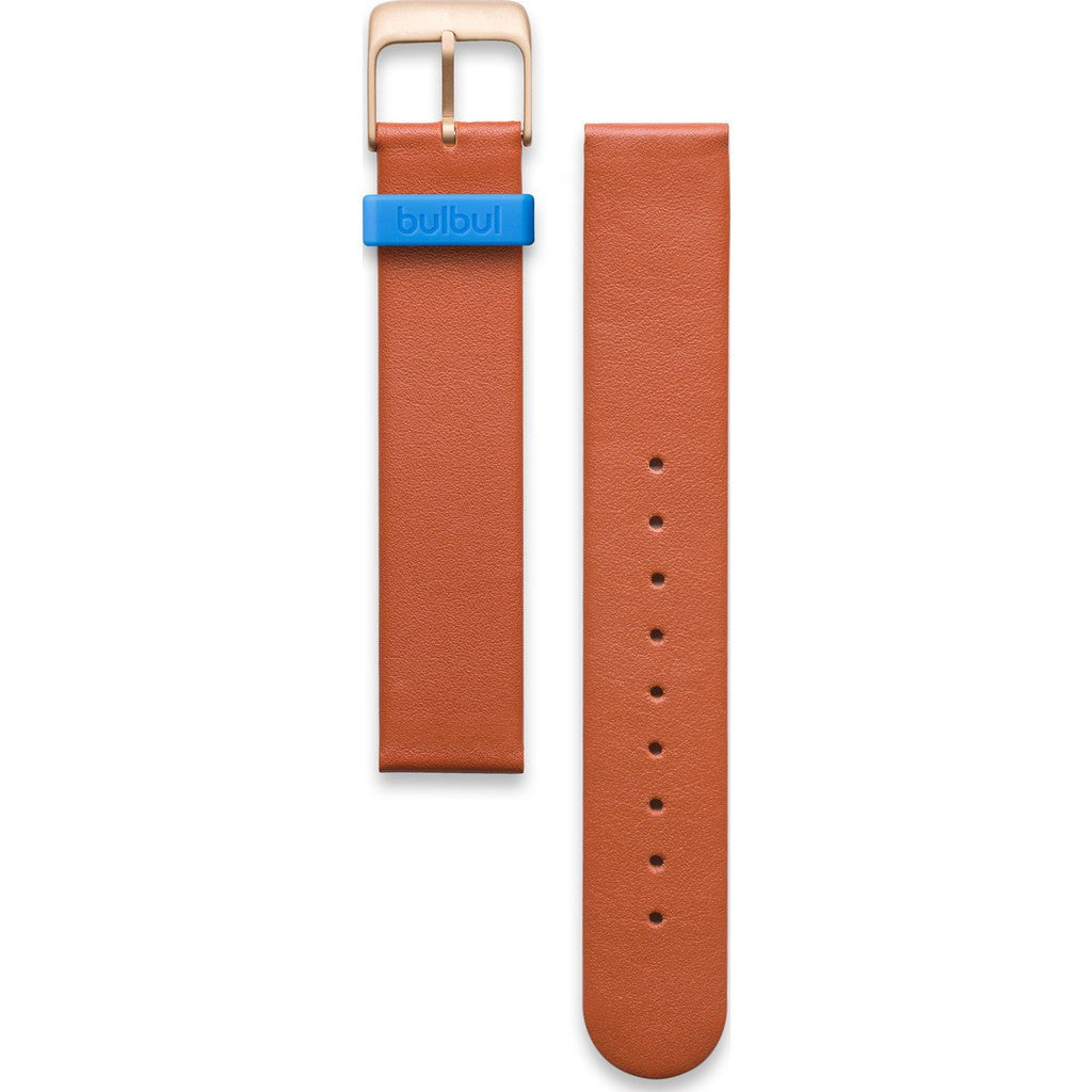 bulbul Pebble / Ore 05 Strap | Brown Italian Leather & Gold Buckle