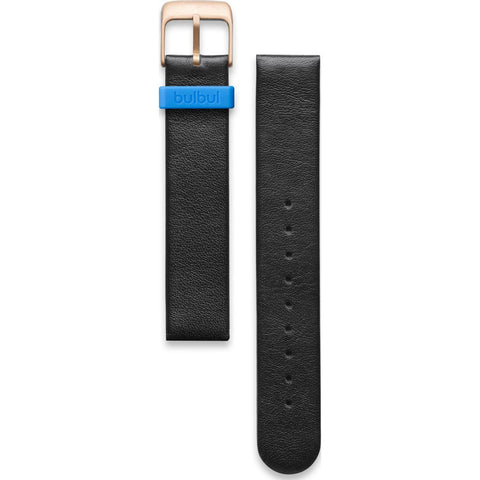 bulbul Pebble / Ore 07 Strap | Black Italian Leather & Gold Buckle