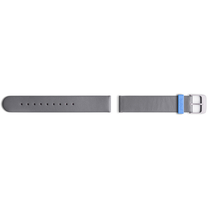 bulbul Pebble 04 Strap | Grey Italian Leather & Stone Grey Buckle