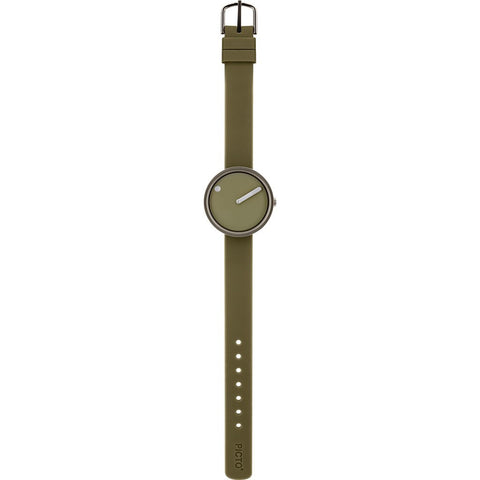 Rosendahl Picto 30mm Green Analog Watch Silver/Green Silicone RD-43356