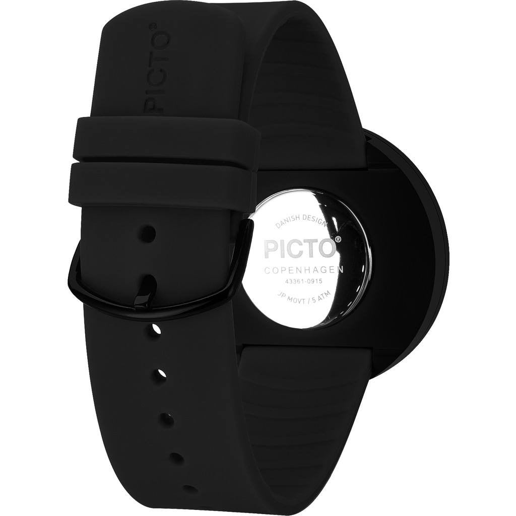 Rosendahl Picto 40mm Black Analog Watch | Black/Black Silicone RD-43361