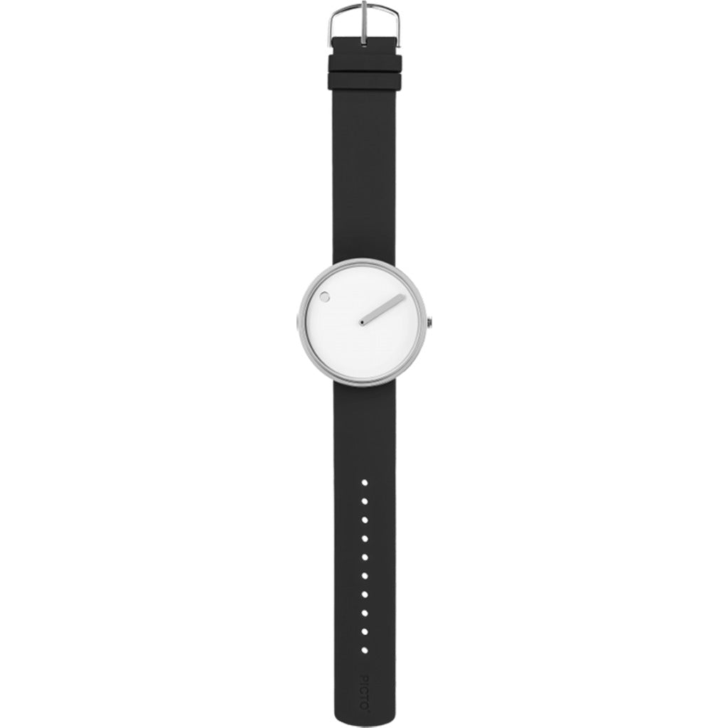 Rosendahl Picto 30mm White Analog Watch | Silver/Thunder Grey
