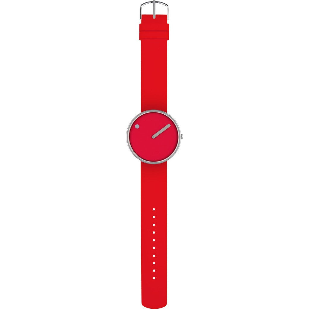 Rosendahl Picto 30mm Red Analog Watch | Silver/Red Silicone RD-43366