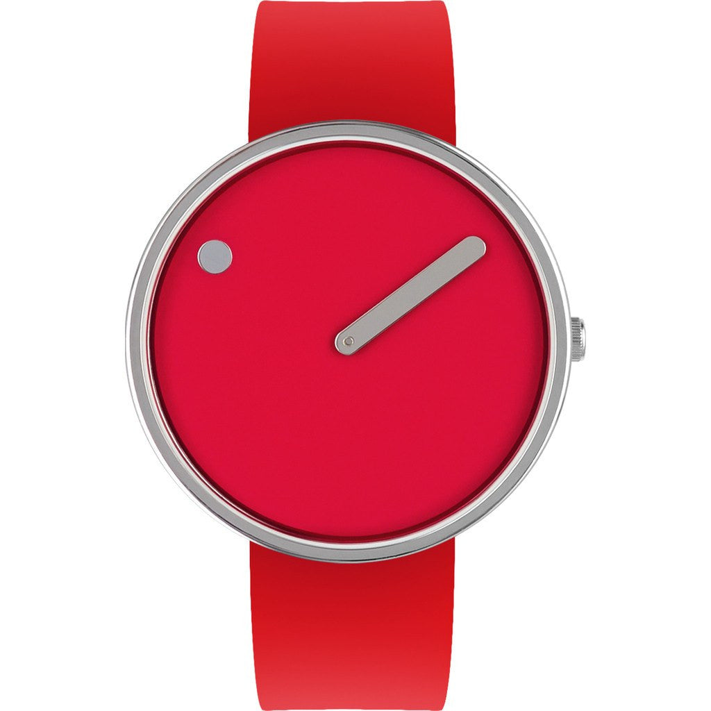 Rosendahl Picto 40mm Red Analog Watch | Silver/Red Silicone RD-43367