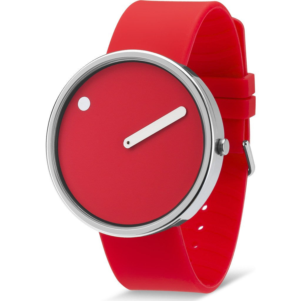 Rosendahl Picto 45mm Red Analog Watch | Silver/Red Silicone RD-43368