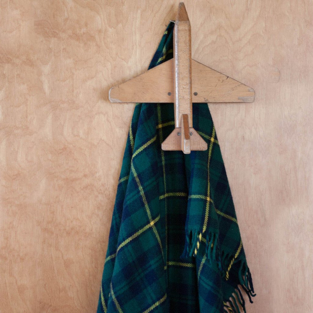 Faribault Pak-a-Robe Plaid Packable Wool Throw | Hiawatha Blue 17269 50x60