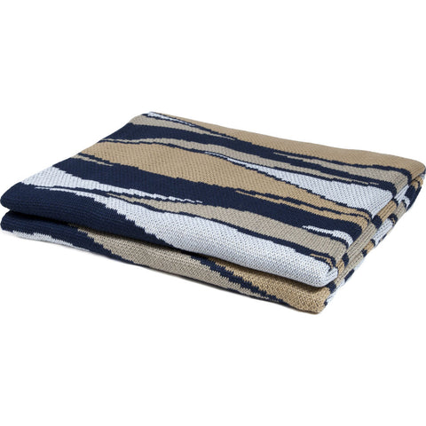 in2green Poly Breakers Eco Throw | Navy/Gold/White - Poly-BR10