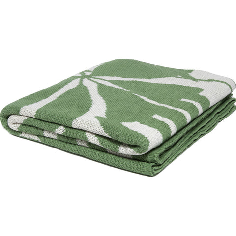 in2green Poly Flora Eco Throw | Fern/White- POLY-FL04