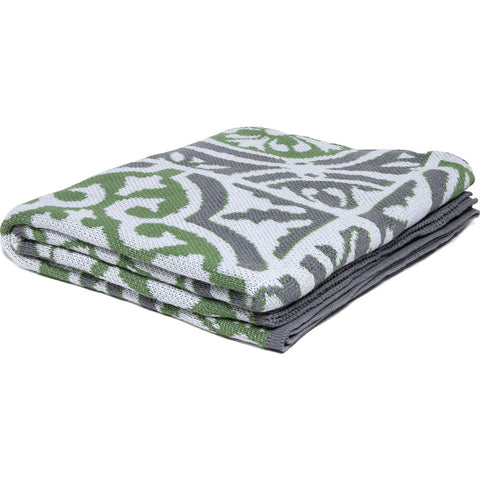 in2green Poly Vintage Tile Eco Throw | Fern/Stone/White- Poly-VT07