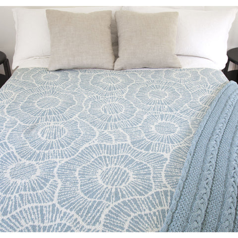 Stacy Garcia Poppy Eco Throw | Blue Pond/Milk- SG-PY01