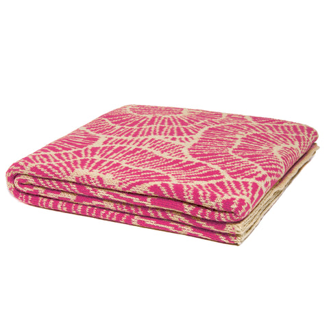 Stacy Garcia Poppy Eco Throw | Fuchsia/Flax- SG-PY05