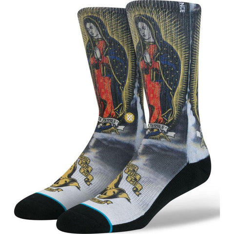 Stance Men's Pray for Me Redux Socks | White L