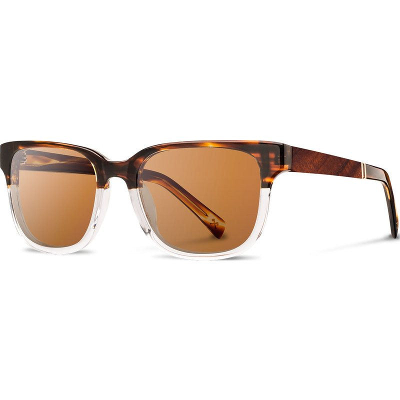 Shwood Prescott Acetate Sunglasses | Whiskey Soda & Mahogany / Brown