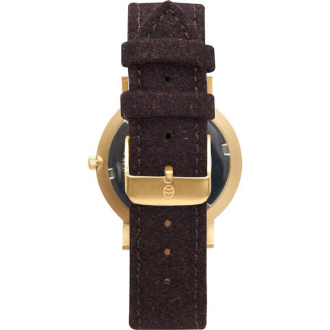 Shore Projects Abersoch Watch with Wool Strap | Chocolate W007S035G