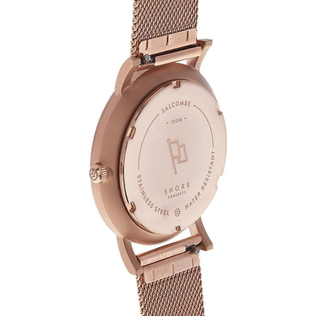 Shore Projects Salcombe Watch with Mesh Strap | Rose Gold W005S021R