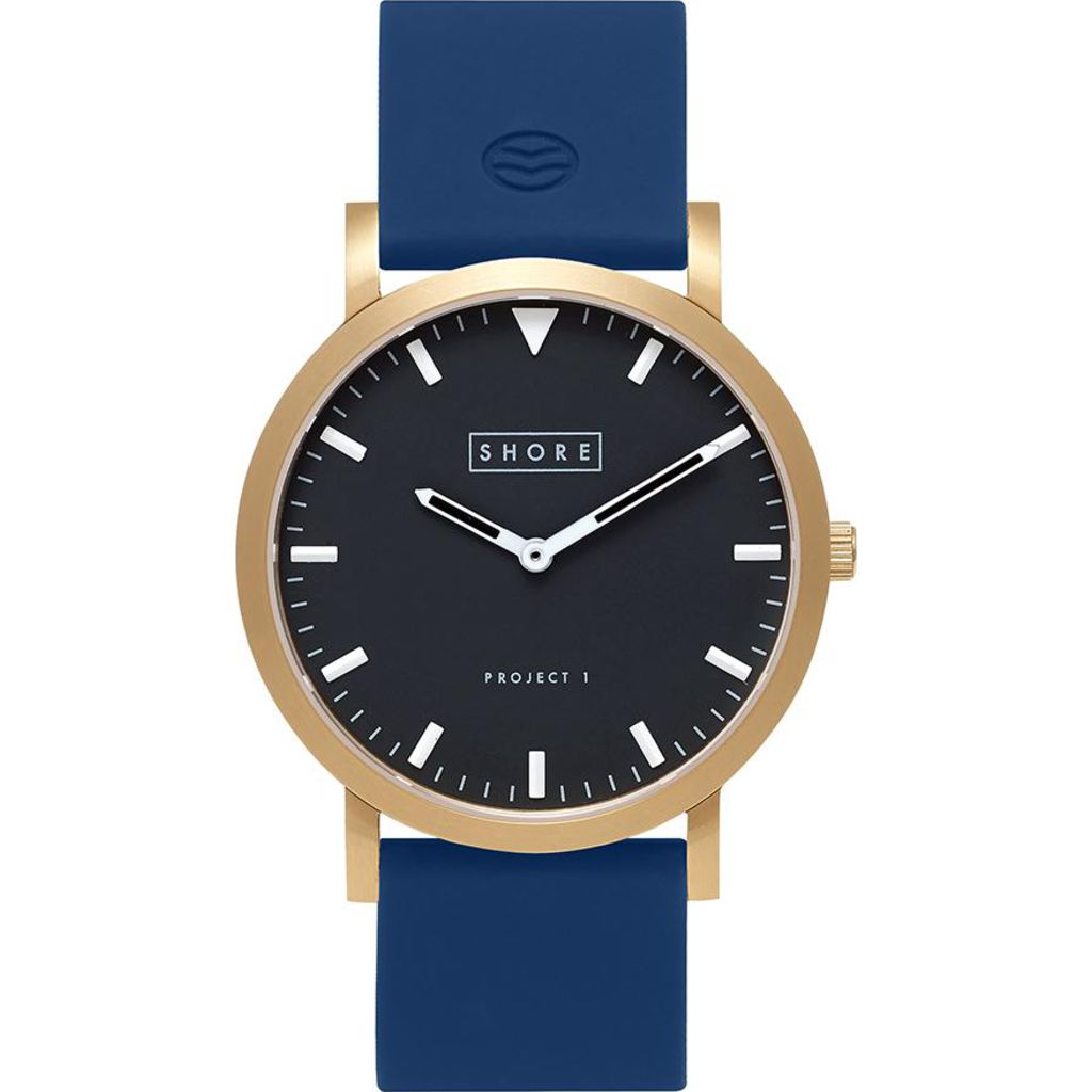Shore Projects St. Ives Watch with Silicone Strap | Navy W003S030G