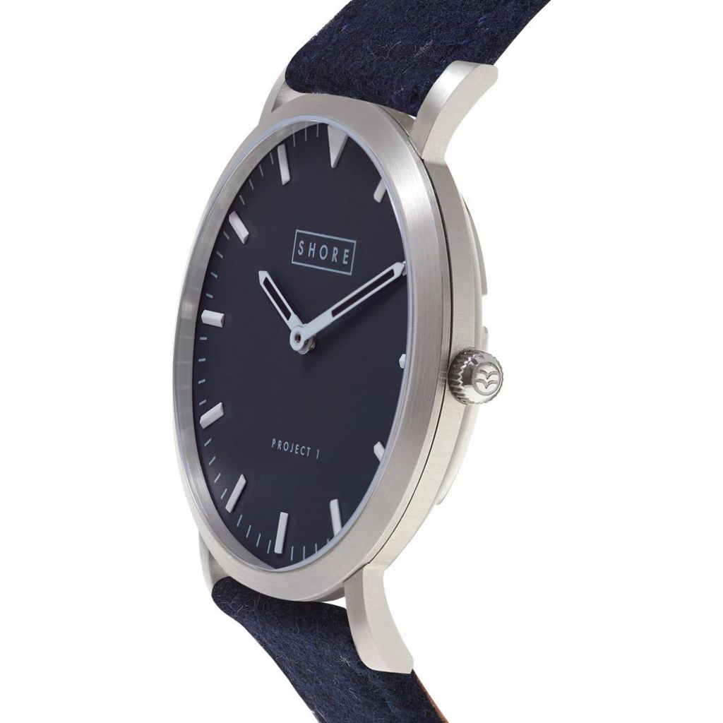 Shore Projects Whitstable Watch with Wool Strap | Navy W001S033S