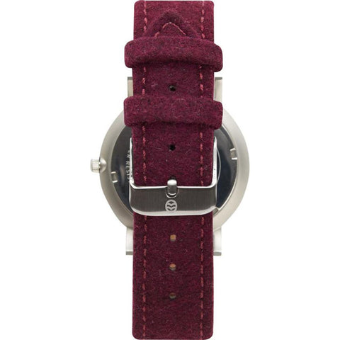 Shore Projects Whitstable Watch with Wool Strap | Burgundy W001S034S