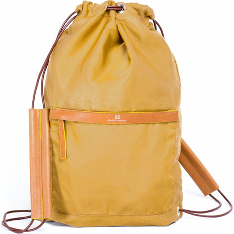 Proper Assembly No. 3 Cinch Backpack | Ochre PA03TAN