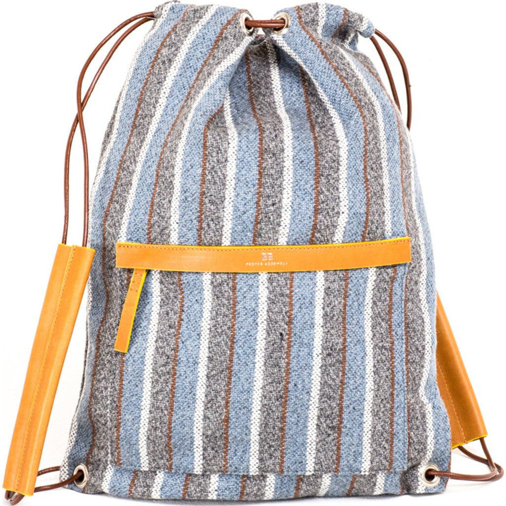 Proper Assembly No. 3 Cinch Backpack | Baja Blue Stripe PA03BLU
