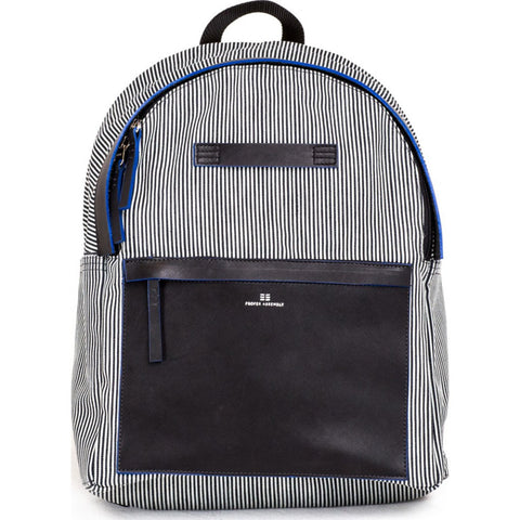 Proper Assembly No. 5 Backpack | Indigo Microstripe PA05BLK