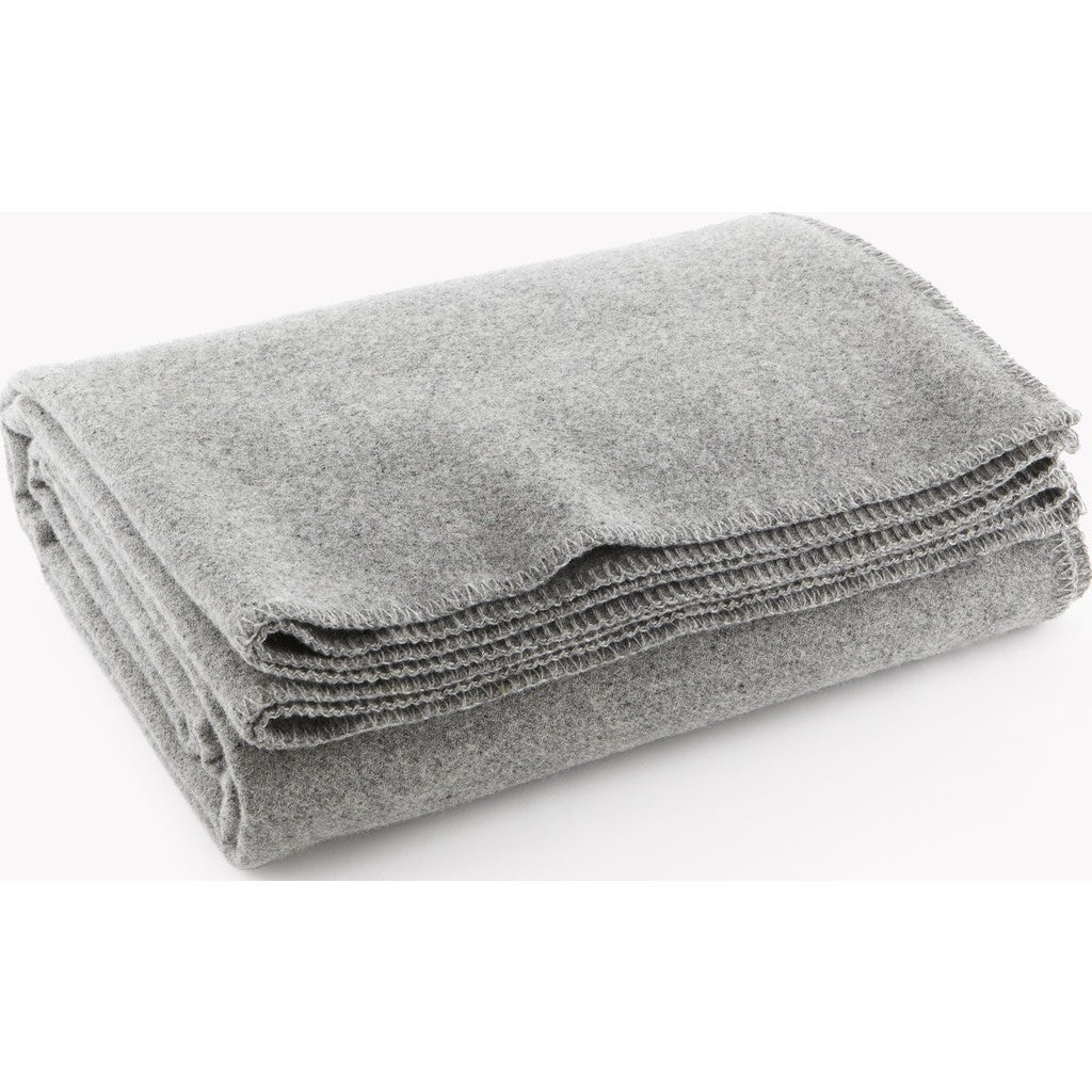 Faribault Pure & Simple Wool Blanket | LT Heather Gray 9172 Twin/9158 Queen/9141 King