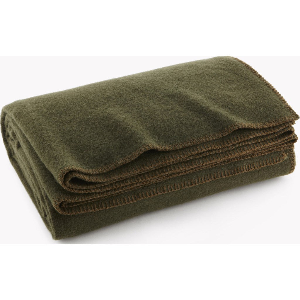 Faribault Pure & Simple Wool Blanket | Olive 9059 Twin/9035 Queen/9028 King