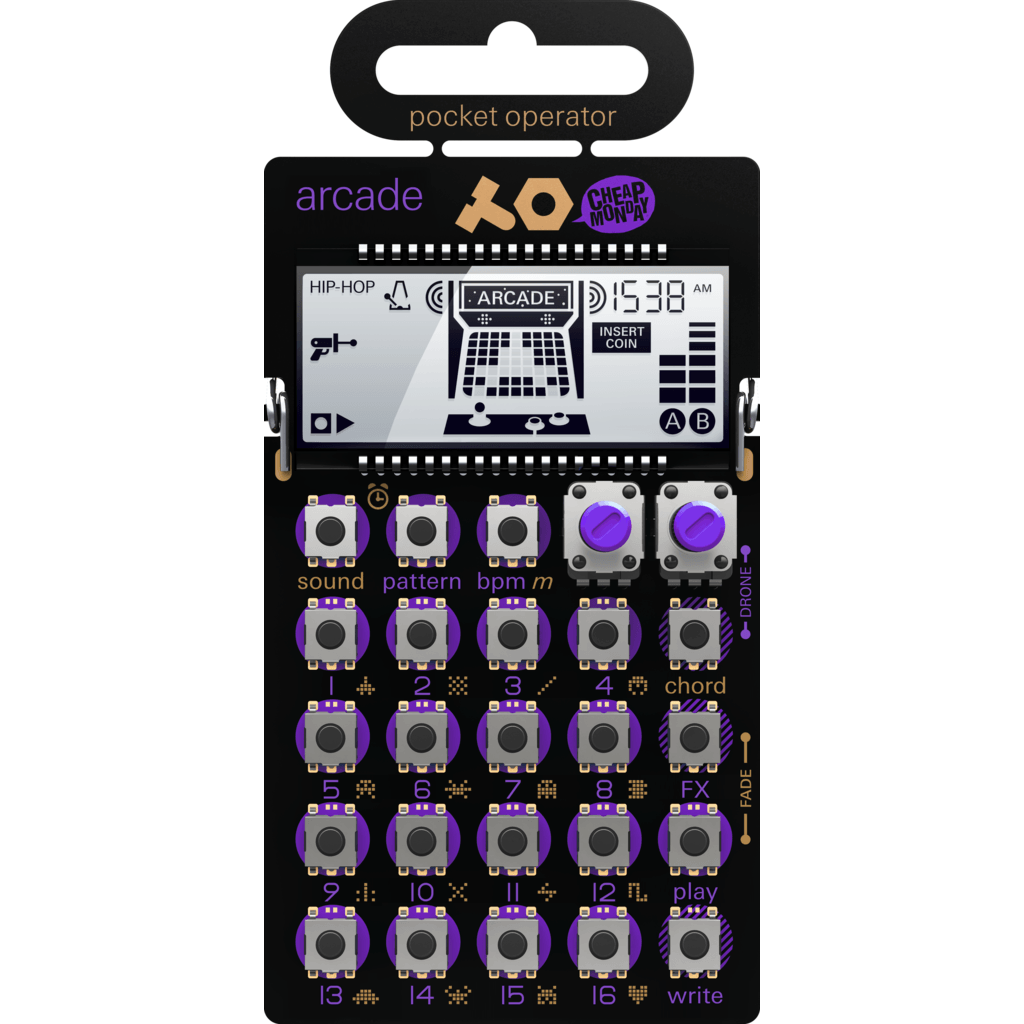 Teenage Engineering Arcade Pocket Synthesizer | Purple PO-20 010 AS 020A