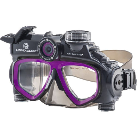 Liquid Image Model 305 720P Hydra Series Dive Mask | Black/Purple
