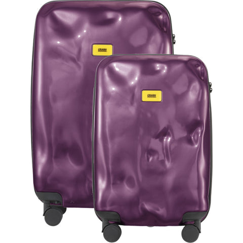 Crash Baggage Set of 3 Bright Trolley Suitcases | Purple Electric CB110-23