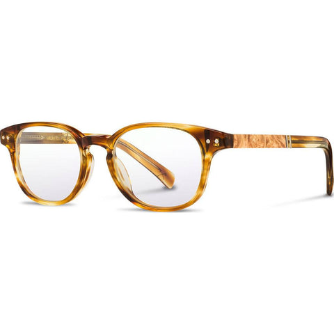 Shwood Rx Quimby Acetate Glasses | Honey / Maple Burl WRXAQHMA