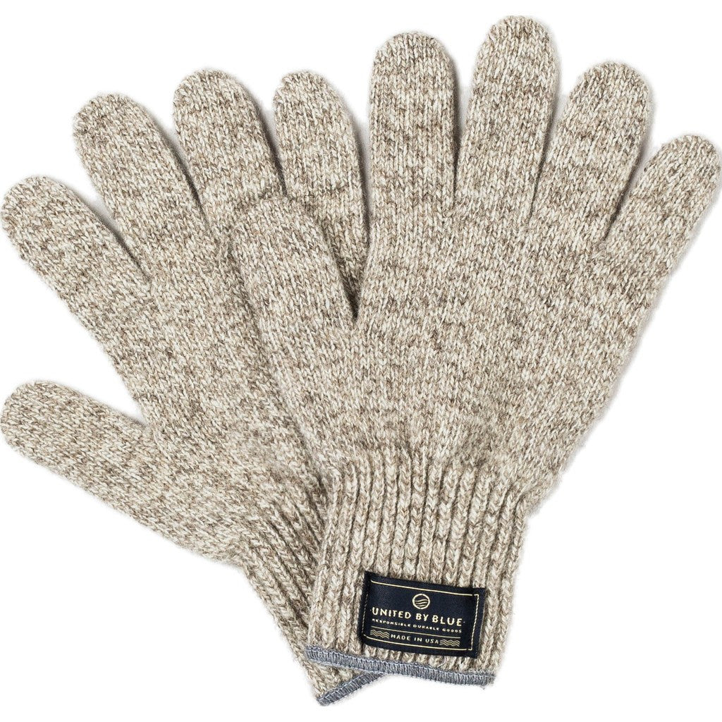United By Blue Ragg Wool Gloves | Oatmeal L 00A-1RG-OT4