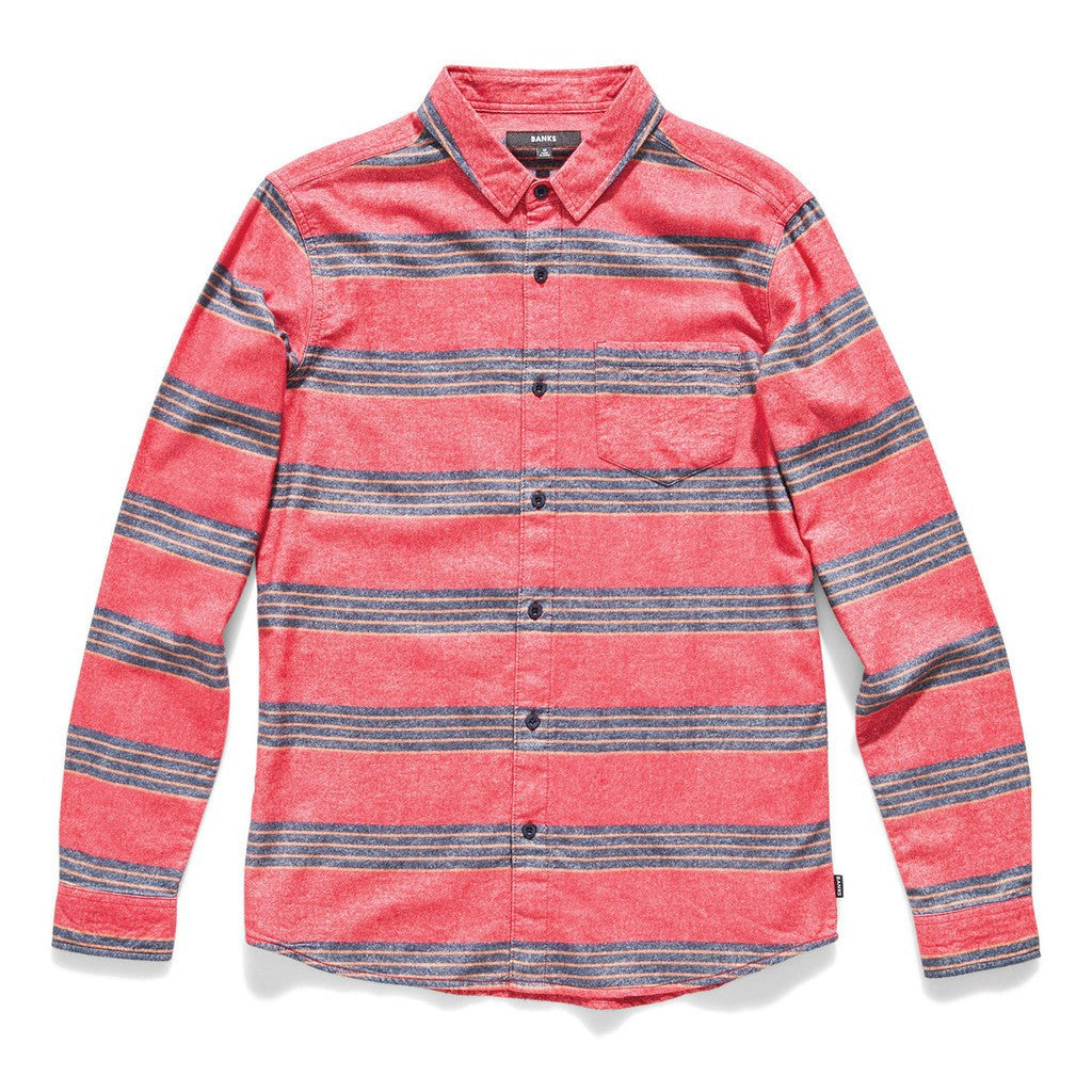 Banks Rails Flannel | Washed Red WLS0031